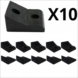 10x Bulk 45mm High Narrow Mount Rubber Stop