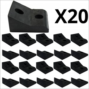 20x Bulk 45mm High Narrow Mount Rubber Stop