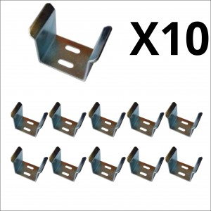 10x Bulk 55mm Galvanized U Guide