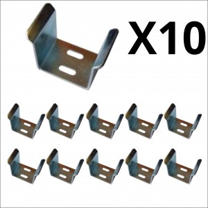 10x Bulk 70mm Galvanized U Guide for Sliding Gate
