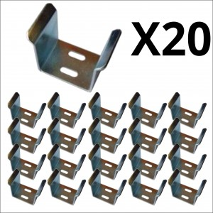 20x Bulk 70mm Galvanized U Guide for Sliding Gate