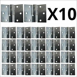 10x Bulk Galvanized Left Side Bolt On - Bolt On Hinges
