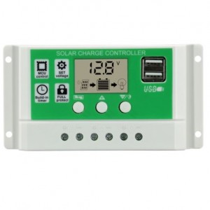 12/24V 10A Solar Regulator (White Casing)