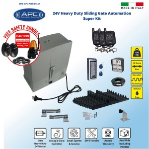 AC to 24V DC Extra Heavy Duty Sliding Gate Opener Kit with Encoder System