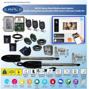 Double Swing Automatic WiFi Gate Opener System with WiFi Intercom Combo Smart Gate Automation System
