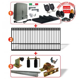 5m Ring Top Gate including Hardware  + Heavy Duty Italian 400kg Sliding gate system (Two Weeks Lead Time After Order)