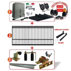 4.9m Ring Top Gate including Hardware  + Heavy Duty Italian 400kg Sliding gate system