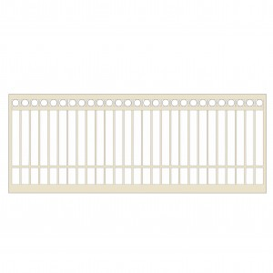 Classic Cream Ring Top Gate 3500mmx1200mm