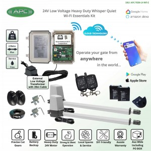 Whisper Quiet Aluminum Telescopic Linear Actuator Wi-Fi Kit Gate Automation System