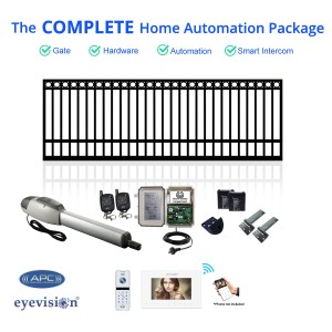 Ring Top Extra Heavy Duty Single  Swing Gate Kit with Smartphone Intercom Kit