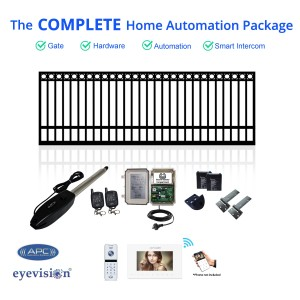 Ring Top Single Swing Gate Kit with Smartphone Intercom Kit