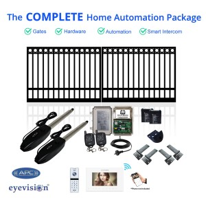 Ring Top Double Swing Gate Kit with Smartphone Intercom Kit