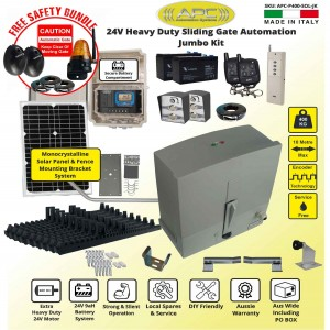 Solar Powered Extra Heavy Duty Sliding Gate Opener Jumbo Kit