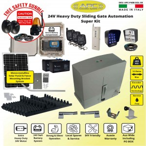 Solar Powered Extra Heavy Duty Sliding Gate Opener Kit