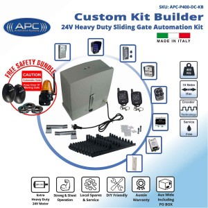 Build Your Own Kit with AC to 24V DC Extra Heavy Duty Sliding Gate Kit with Encoder System