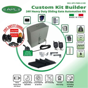 Build Your Own Kit with Extra Low Voltage 24V DC Extra Heavy Duty Sliding Gate Kit with Encoder System