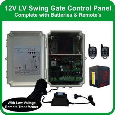 CBSW12 Control Box with 20m external transformer (includes backup battery)