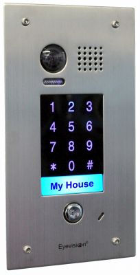 Stainless Steel 170 Degree Flush Mount Keypad Outdoor Station