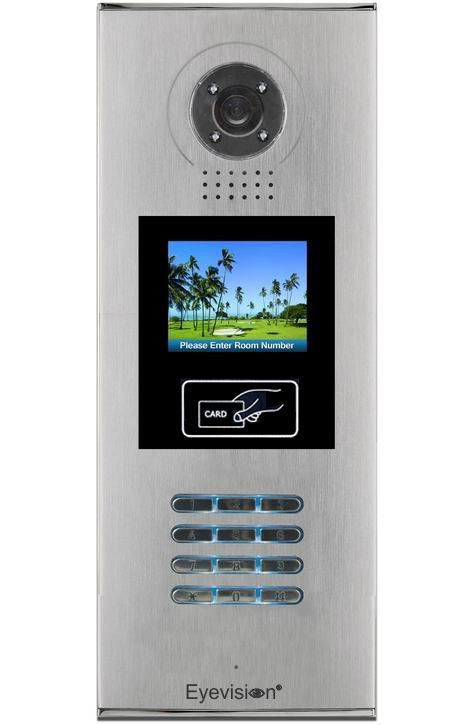 Semi Flush Mount Multi Key LCD Door Station with RFID Reader