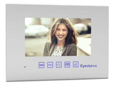 Gloss White 7 inch Intercom Monitor