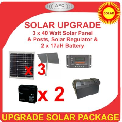 24V 120Watt 17aH Solar Bundle Package