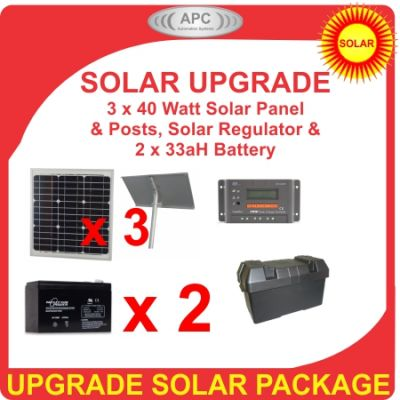 24V 120Watt 33aH Solar Bundle Package